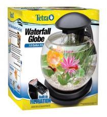 Bol acvariu, Tetra Cascade Globe, 6.8 litri, negru